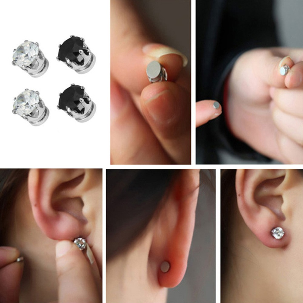 how to put on magnetic earrings