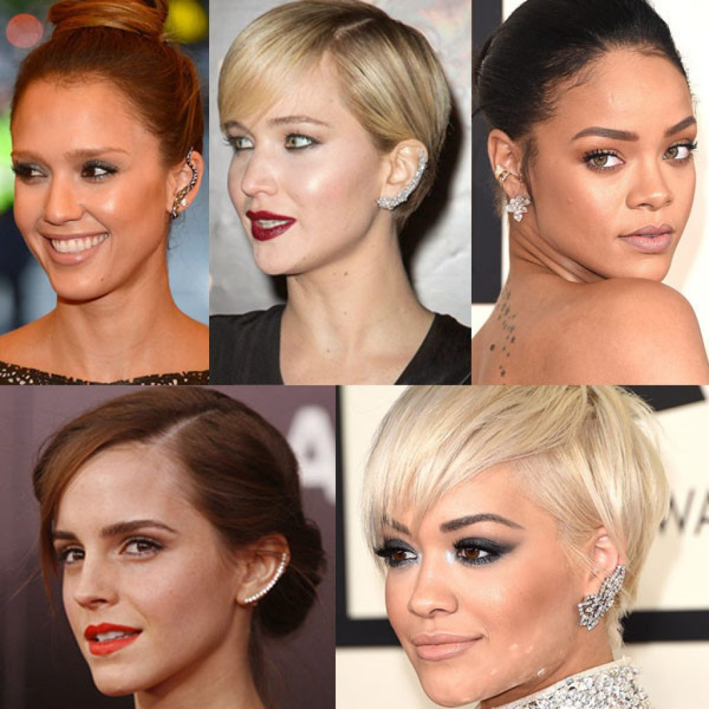 celebrities and cliber earrings