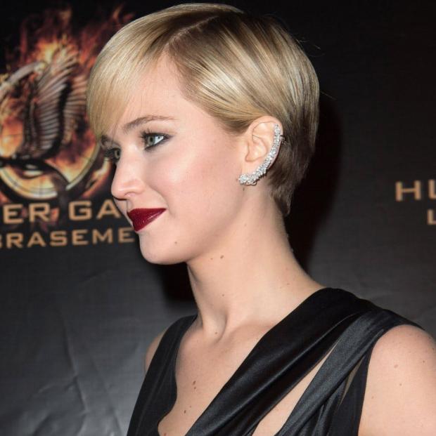 Jennifer Lawrence ear cuffs