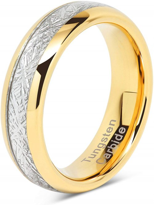Gold meteorite ring