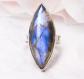 Navya Craft Labradorite Silver Ring