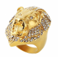 HZMAN Iced Out Lion Ring