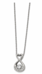 Black Bow Jewelry Stainless Steel Necklace