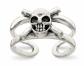 Black Bow Jewelry Co. Antiqued Skull & Cross Bones Toe Ring