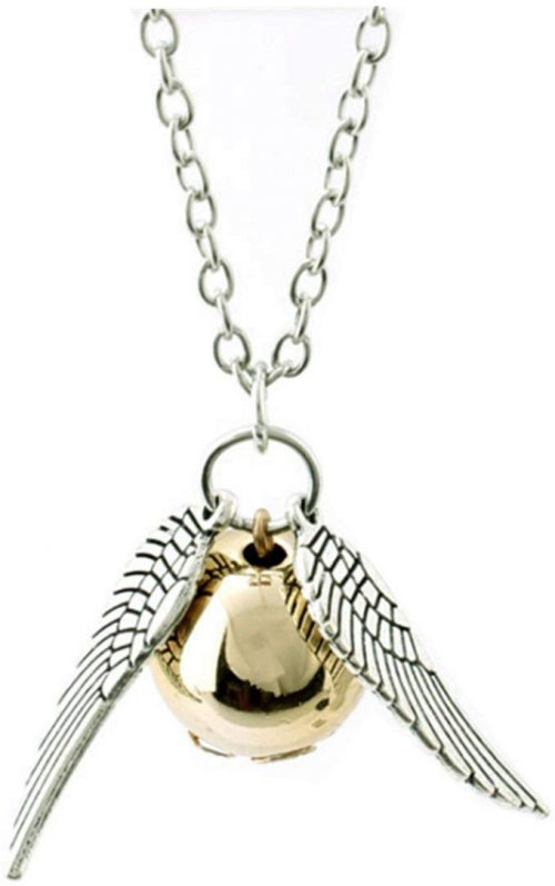 ANKRKERYYtitle Fairy Jewelry Harry Potter Golden Snitch Necklace