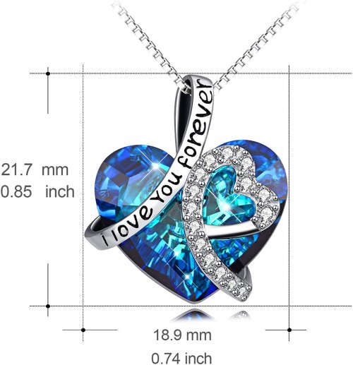 AOBOCO Love Necklace Size