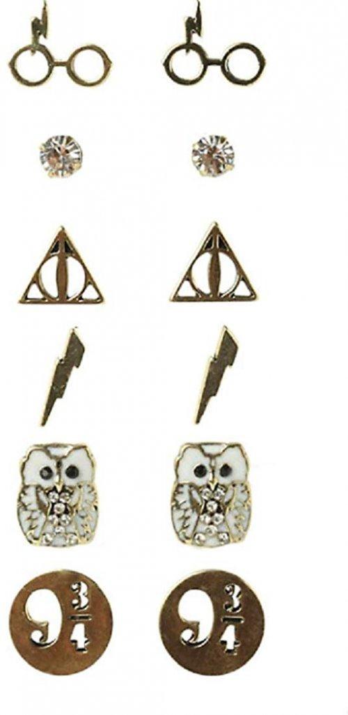 Harry Potter Earrings 6 Pair Set