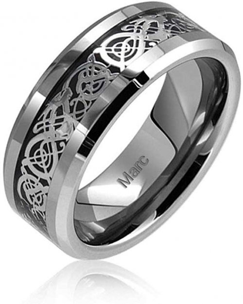 Bling Jewelry Tungsten Celtic Ring for Men