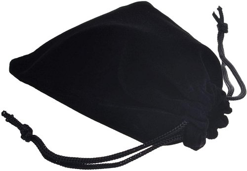 Black jewelry bag