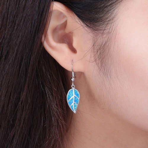 CiNily Opal Leaf Dangle Earrings collection
