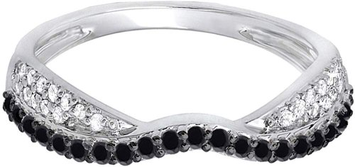 Dazzling rock Black Diamond Stackable Ring