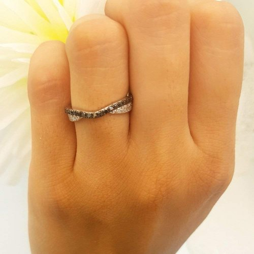Dazzling Rock Stackable ring on hand