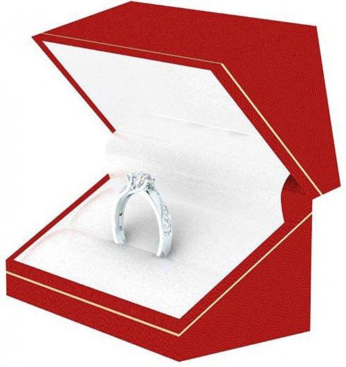 Diamond silver ring box