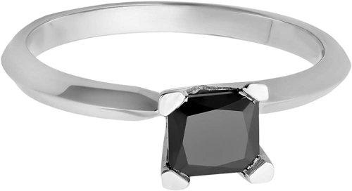 Dazzlingrock Collection black diamond solitaire ring