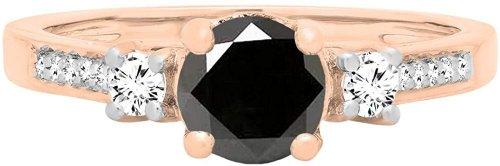 Dazzlingrock Collection Rose Gold Ring Side
