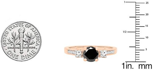 Dazzlingrock Collection rose gold Ring Size