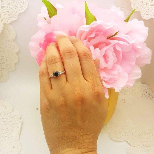 Dazzlingrock Collection Rose Gold Ring on Model