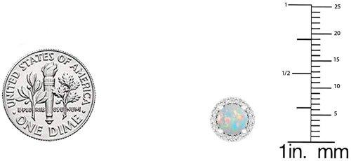Dazzlingrock Collection Stud Opal  Earrings Size