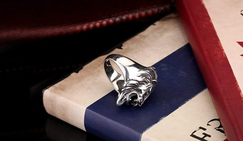 Eosing Detailed 316L Stainless Steel Roaring Lion Mens Ring Collection