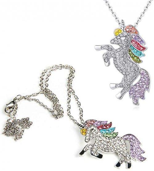 Silver unicorn neckalce