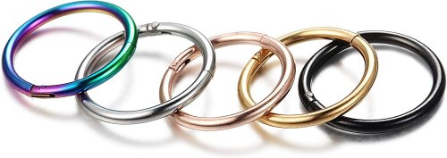 Jstyle 5-8 Pcs a Set 316L Stainless Steel Septum Collection