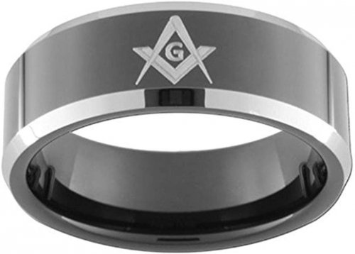 King Will Classic 8mm Black Men's Tungsten Carbide Ring Collection