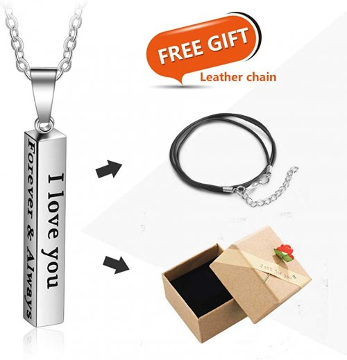 Love Jewelry Personalized Couple Necklace Info