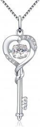 Devuggo Mabella Heart Key Necklace
