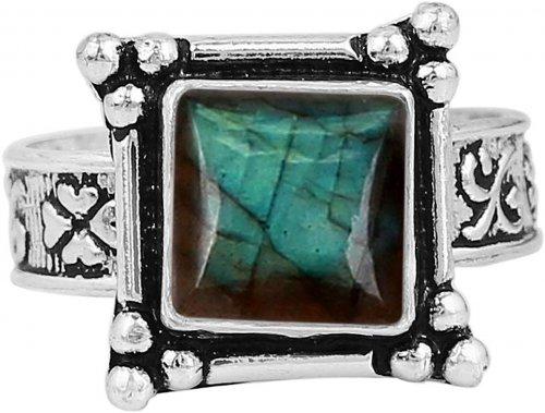 NaturalLabradorite Ring Side