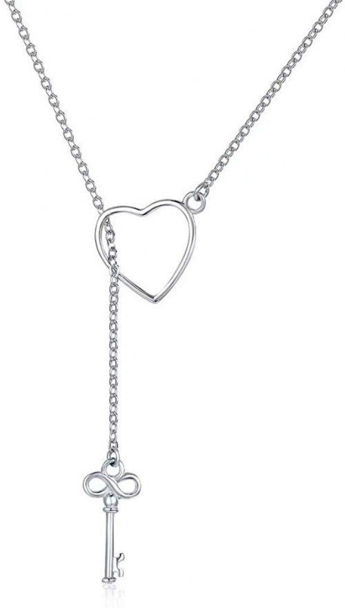 Presentski 925 Sterling Silver Y Lariat Necklace