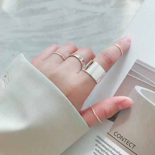 SILBERTALE 14mm Wide Open Finger Ring Model