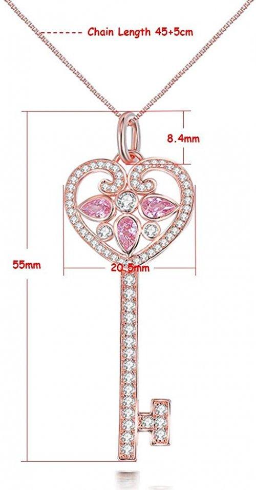 SKA Jewelry Key Necklace Size
