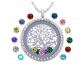 Feilaiger Family Tree of Life Birthstone Locket Necklace