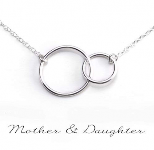 Best gifts for moms - Gracefully Made Jewelry Circles Necklace