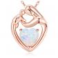 MEGACHIC White Opal Heart Necklace