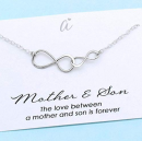 Best gifts for moms - A Charmed Impression Sterling Silver Double InfinityNecklace