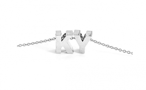 BG247 Stainless Steel Dainty Initial Up to 3 Letters Pendant Necklace