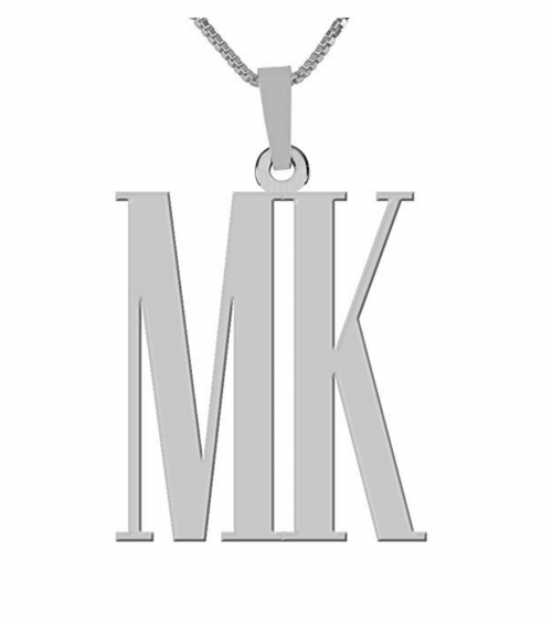 HACOOL 925 Sterling Silver Double Initials Monogram Necklace Custom Made with Any 2 Initials