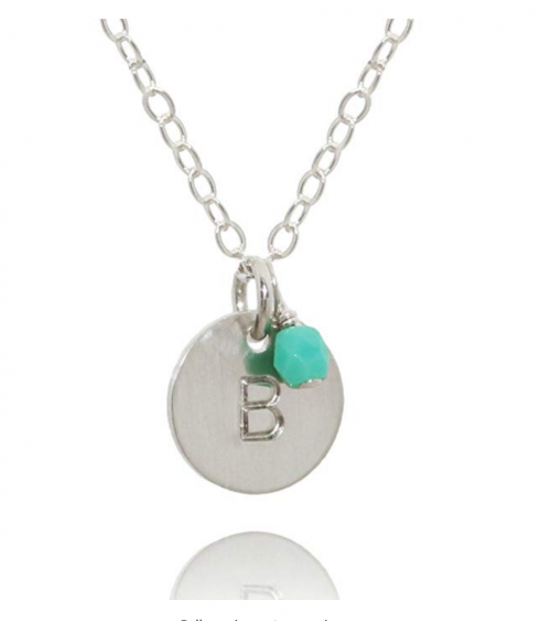EFYTAL Sterling Silver Necklace with Birth charm