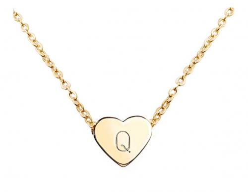 gold heart initial