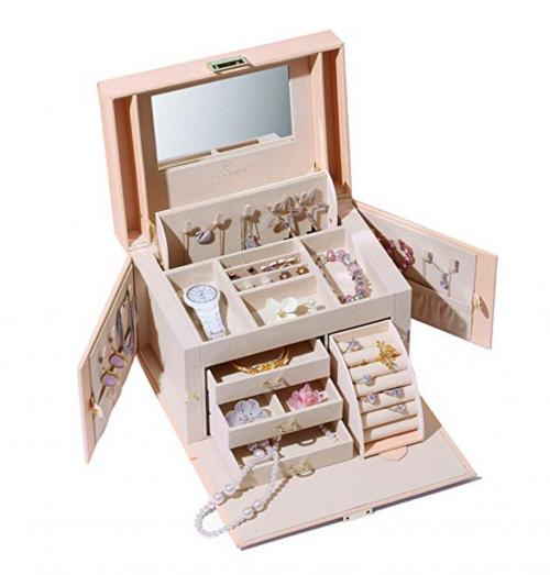 Vlando Mirrored Jewelry Box Organizer