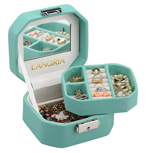 LANGRIA Lockable Jewelry Box