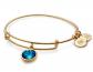 Imitation Birthstone Bangle Bracelet