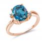 Gem Stone King Blue Topaz Solitaire
