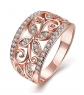 Zarbrina Rose Gold Plated Ring