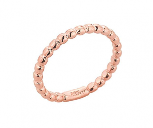 Modern Contemporary Rings Solid 14k Rose Gold Mid Finger Beaded Knuckle Ring