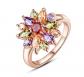 BAMOER White Rose Gold Plated Ring