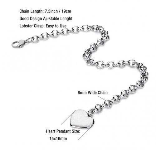 Initial Charm Bracelet size