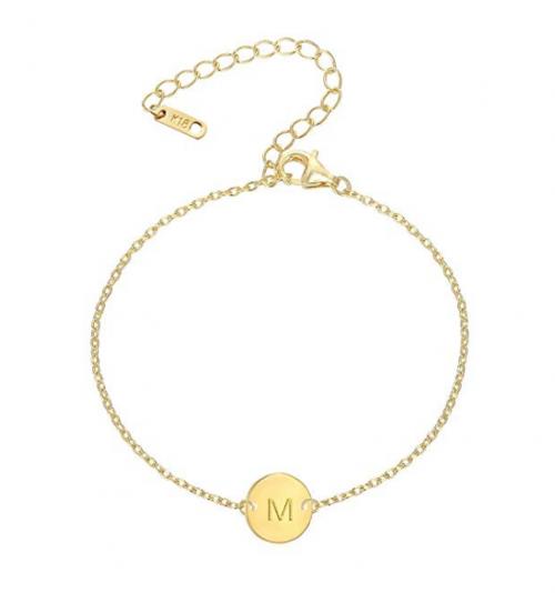 MOMOL Initial Charm Bracelet