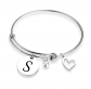 EIGSO Heart Charm Memory Bracelet